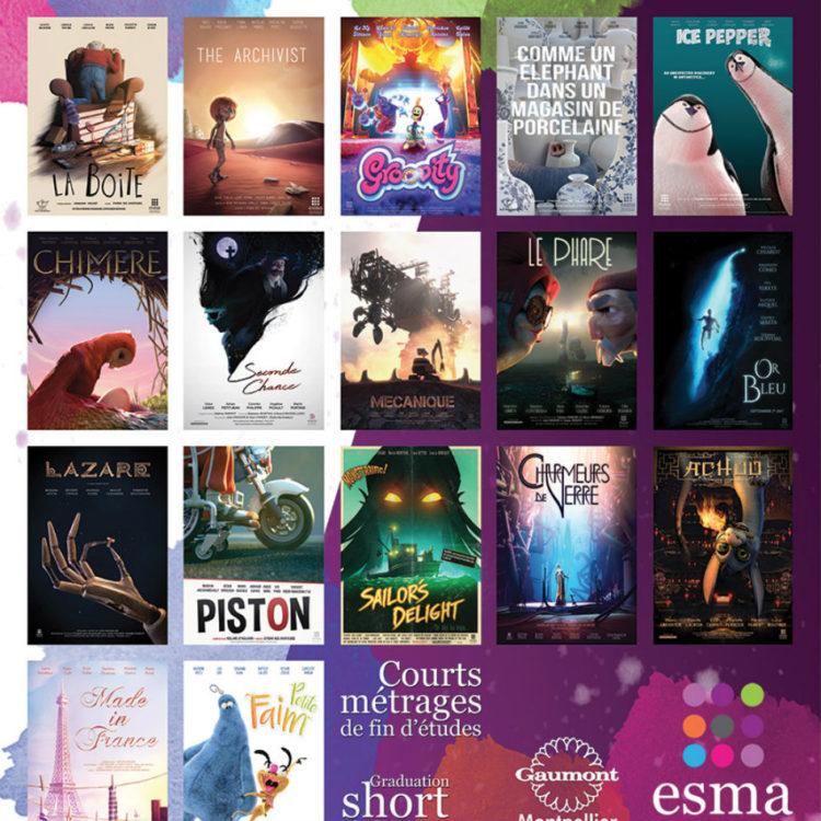 Les 17 courts-métrages de la promotion 2017 de l'ESMA disponibles sur notre chaîne Youtube