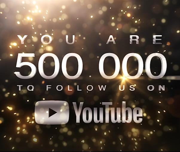 Plus de 500.000 abonnés sur notre chaîne YouTube