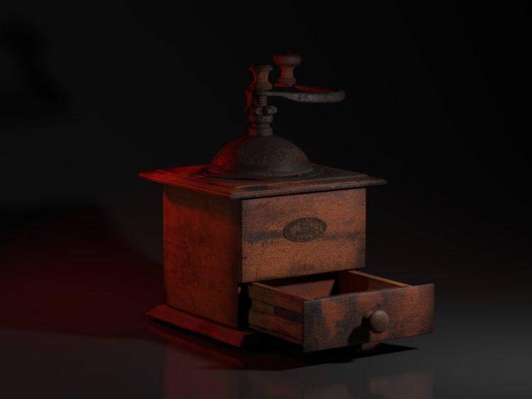 Projet de modélisation : Moulin à café antique