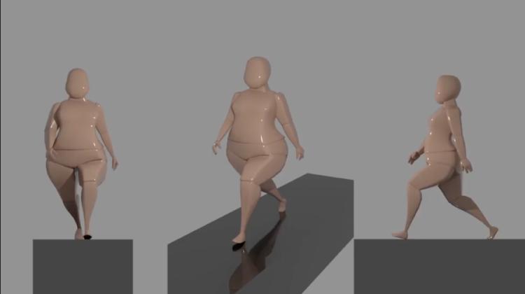Cycle de marche en animation