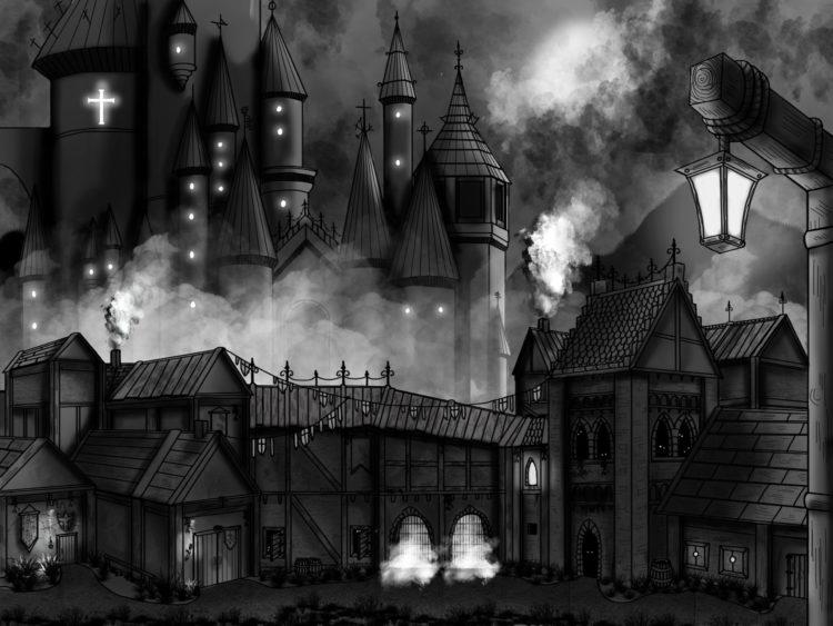 Concept art : Le château d'Obscura