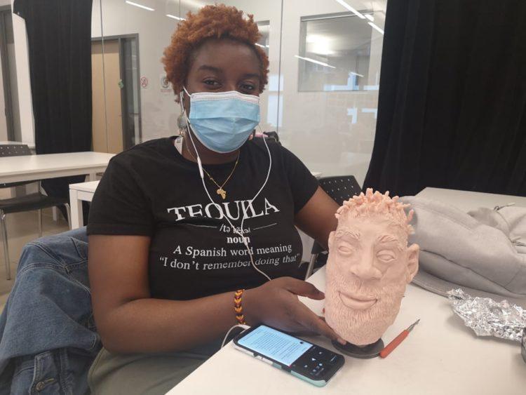 Création de sculptures avec les étudiant·e·s d'animation 3D !